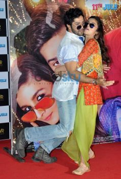 Alia Bhatt and Varun Dhawan at upcoming Film Launch