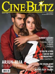 Arjun Kapoor and Alia Bhatt on the cover of CineBlitz May 2014
