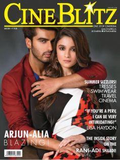 Arjun Kapoor and Alia Bhatt on the cover of CineBlitz May 2014