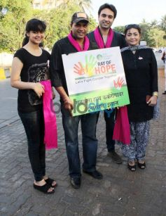 Celebs at Road March Against Breast Cancer