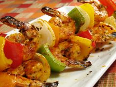 Chilli Garlic Prawn Kebab