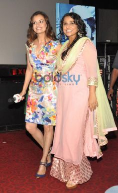 Dia Mirza and Vidya Balan at Bobby Jasoos Trailor Launch