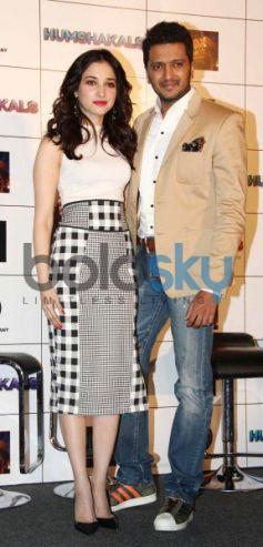 Esha Gupta and Tamannaah Bhatia at Press Conference