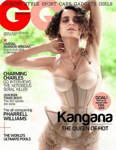 Kangna Ranaut on the cover of GQ May 2014