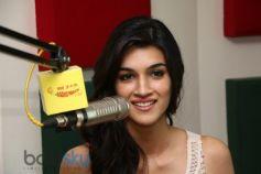 Kriti Sanon during Heropanti promotion at Radio Mirchi