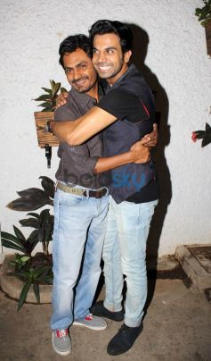 Nawazuddin and Rajkumar at special screening of Citylights
