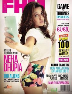 Neha Dhupia on the cover of FHM May 2014