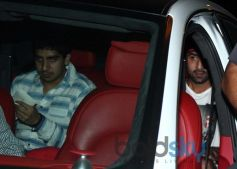 Ranbir Kapoor snapped in car at Restaurent in Bandra