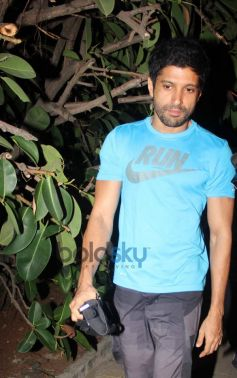 Farhan Akhtar snapped outside his Home