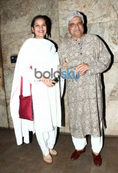 Shabana Azmi and Javed Akhtar at Hawwa Hawwai screening