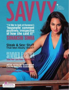 Sonakshi Sinha on the cover of Savvy April 2014
