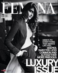 Sonam Kapoor on the cover of Femina Luxury May 2014