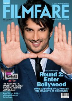 Sushant Singh Rajput on the cover of Filmfare May 2014