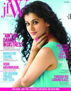 Tapasee Pannu on the cover of JFW India April 2014