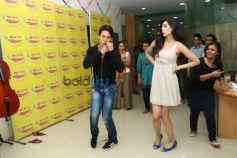 Tiger Shroff and Kriti Sanon during Heropanti promotion at Radio Mirchi