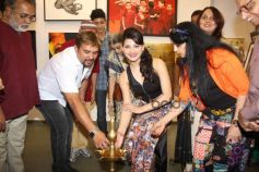 Urvashi Rautela at J S Art Gallery Exhibitions