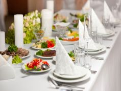White Lace Table Linen