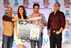 Aayushman Khurana and Parineeti chopra at  Zee TV's Cinestars Ki Khoj