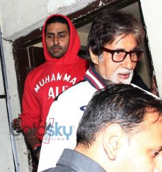 Amitabh and Abhishek Bachchan Snapped at PVR