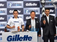 Arbaaz Khan and Rahul Dravid at Gillette Campaign