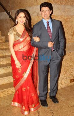 Madhuri Dixit with Sriram Madhav Nene at Dilip Kumar Autobiography Launch