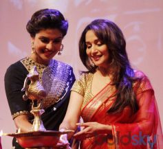 Priyanka Chopra and Madhuri Dixit stunns at Dilip Kumar Autobiography Launch