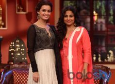 Dia Mirza and Vidya Balan at Comidy Nights during Film Promotion