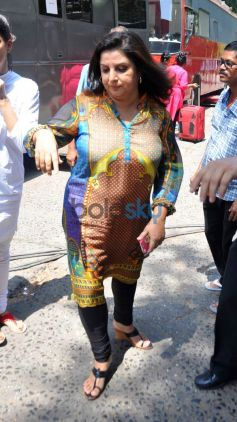 Farah Khan spotted at Filmistan Studio
