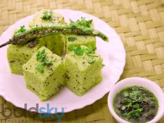 Healthy Palak Dhokla Recipe