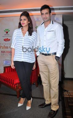 Huma Qureshi and Irfan Pathan at Malaysian Palm Oil Event