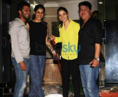 Humshakals starcast snapped at Tamanah Bhatia House