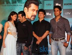 Jacqueline Fernandez and Salman Khan at Kick Trailer Launch