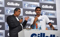 R Ashwin at Gillette Campaign