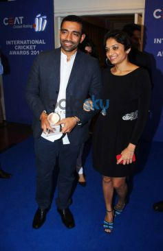 Robin Uthappa at CEAT Cricket Ratings Awards 2014