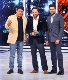 Saif Ali Khan and Riteish Deshmukh at Jhalak Dikhhla Jaa 7 Stage