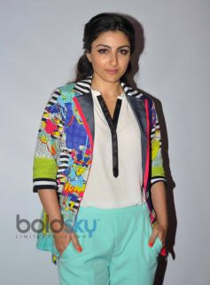 Soha Ali Khan at Chaarfutiya Chhokare Film Promotion