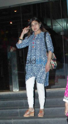 Alka Yagnik Snapped at Cinemax