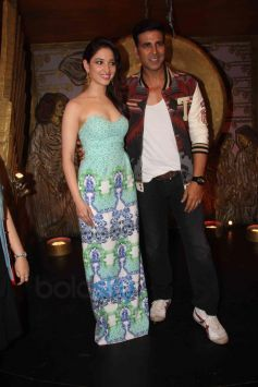 Akshay Kumar and Tamannaah Bhatia during Film Promotion