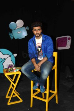 Arjun Kapoor on the set of Disneys Chat Show Captain Tiao
