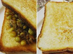 Bread Masala Peas Recipe