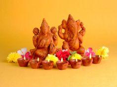 Idols Of Lakshmi & Ganesha
