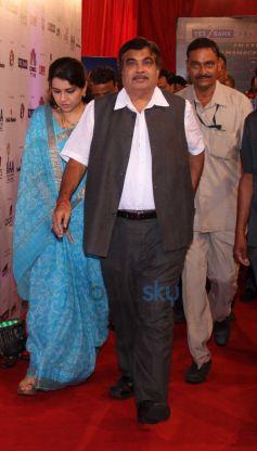 Shaina NC and Nitin Gadkari