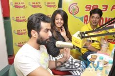 Jay Bhanushali and Surveen Chawla during Hate Story 2  Promotion