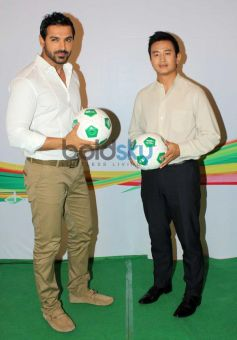 John Abraham at India's Biggest Football Hangout