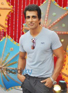 Sonu Sood during Happy New Year Promotion