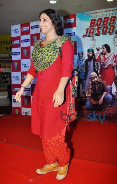 Vidya Balan during Bobby Jasoos Promotion at R City Mall