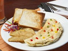 White Masala Omelette Recipe