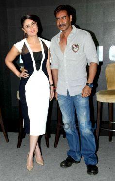 Kareena Kapoor and Ajay Devgan