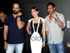 Rohit Shetty, Kareena Kapoor and Ajay Devgan