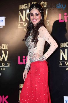 Shraddha Arya at Life ok Awards 2014